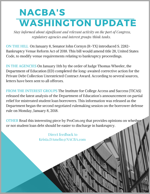 Bankruptcy reform nacba now stay informed with nacbas washington update malvernweather Gallery